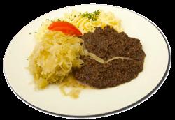 Grützwurst mit Sauerkraut