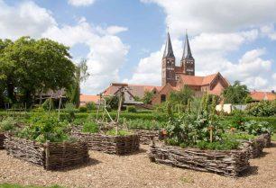 Blick vom Klostergarten auf die Klosteranlage