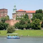 Boot vor dem Wawel