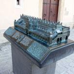 Modell der Tuchhallen