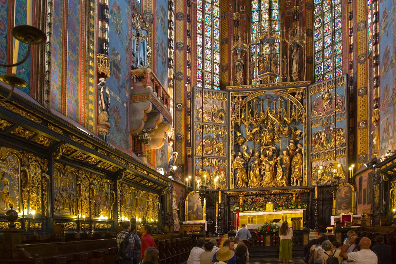 Krakauer Hochaltar von Veit Stoss in der Marienkirche