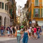 Blick zum Piazza delle Erbe