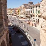 Blick auf die Piazza Bra IV