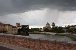Regen über Verona