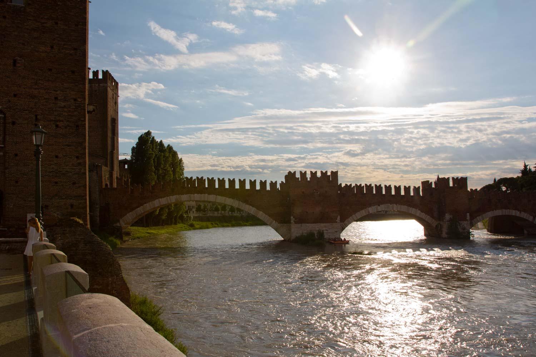 Abendliche Ponte Scaligero