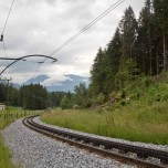 Schienen der Zugspitzbahn