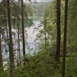 Blick zur Brücke zwischen Weitsee und Untersee