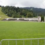Im Innern des Olympiastadions von Garmisch-Paertenkirchen