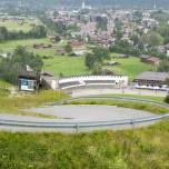 Blick aus der Gondel auf das Olympiastadion von Garmisch-Partenkirchen III