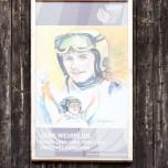 Gedenktafel an Jens Weißflog für seine Siege bei der Vier-Schanzen-Tournee