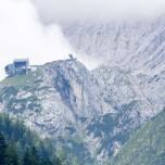 Blick zur Aussichtsplattform AlpspiX