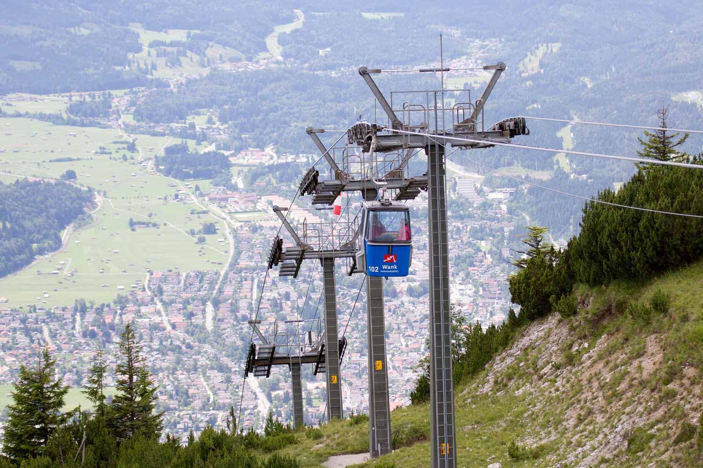 Wankbahn  und Garmisch-Partenkirchen