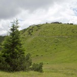 Blick zur Bergstation der Wankbahn