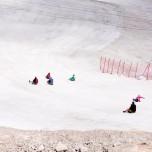 Rodeln auf dem Gletscher Nördlicher Schneeferner