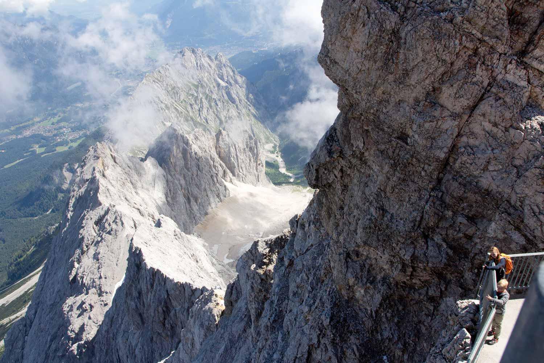 Gletscher Höllentalferner von der Zugspitze aus