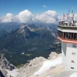 Blick nach Östereich von der Zugspitze aus