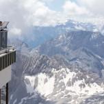 Gipfel in der Ferne, Alpen