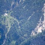 Berghütte im Tal