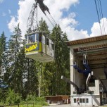 Talstation der Eibseebahn mit Gondel