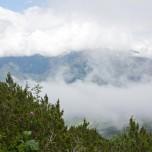 Nebel über Grainau, Blick vom Hupfenleitenjoch