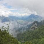 Blick vom Hupfenleitenjoch auf Grainau ohne Nebel