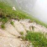 Hupfenleitenjoch-Wanderung: Abstieg vom Hupfenleitenjoch
