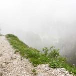 Hupfenleitenjoch-Wanderung: Wanderweg ins Nichts, Nebel