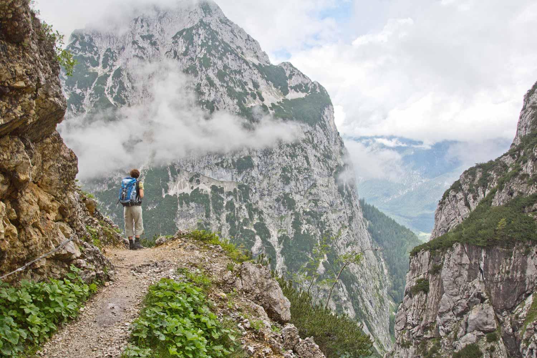 In der Bergwelt zwischen Hupfenleitenjoch und Höllentalklamm