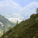 Blick ins Tal auf Grainau