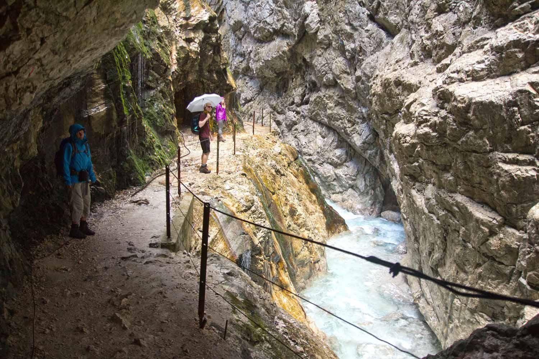 In der Höllentalklamm unterhalb der Zugspitze