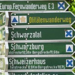 Wanderwegweiser II in Bad Blankenburg