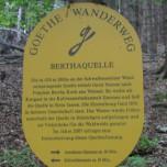 Hinweis Bertaquelle Goethewanderweg