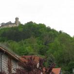 Blick zur Burg Greifenstein in Bad Blankenburg