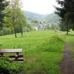 Blick auf Manebach Goethewanderweg