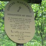 Hinweis Hermannstein Goethewanderweg