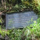 Tafel Hermannstein Goethewanderweg