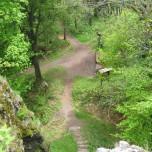 Blick auf de Wanderweg