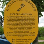 Hinweis Aussichtsturm Kickelhahn
