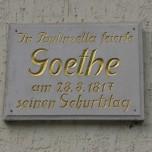 Goethe in Paulinzella