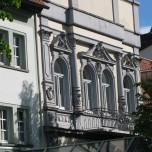 Unsere Zimmerfenster im Hotel in Ilmenau