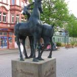 Detail Ziegenbrunnen in Ilmenau