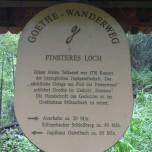 Hinweis Finsteres Loch Goethewanderweg