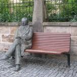 Goethe vor dem Amtshaus in Ilmenau