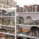 Stand auf dem Töpfermarkt Naumburg