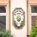 Relief an einem Naumburger Haus