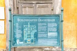 Schlossgarten Oranienbaum Infotafel
