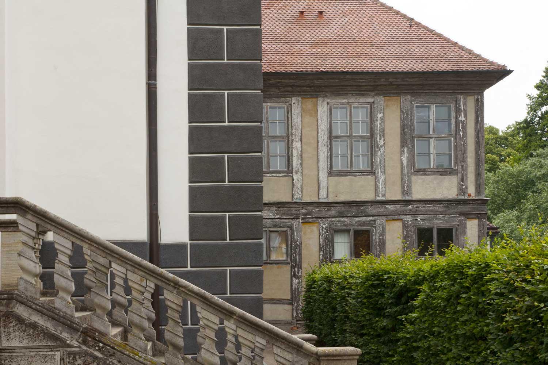 Schloss Oranienbaum alt und neu