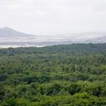 Kyffhäuser vom Aussichtsturm Arche Nebra aus gesehen