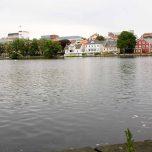 Der See Breiavatnet in Stavanger