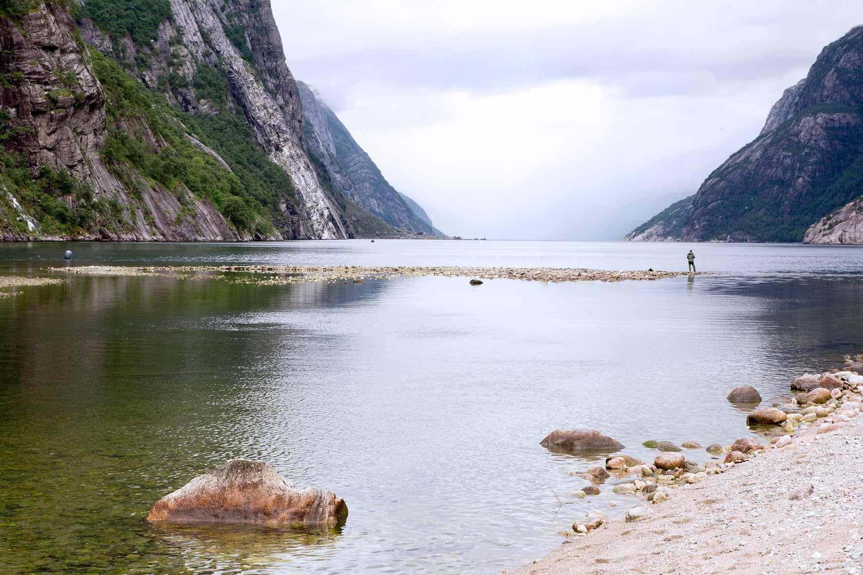 Angler im Lysefjord - Lysebotn